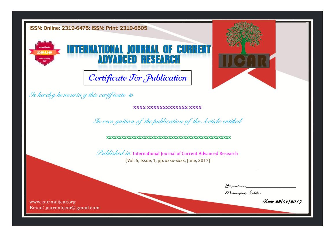 List of Articles | International Journal of Current Advanced