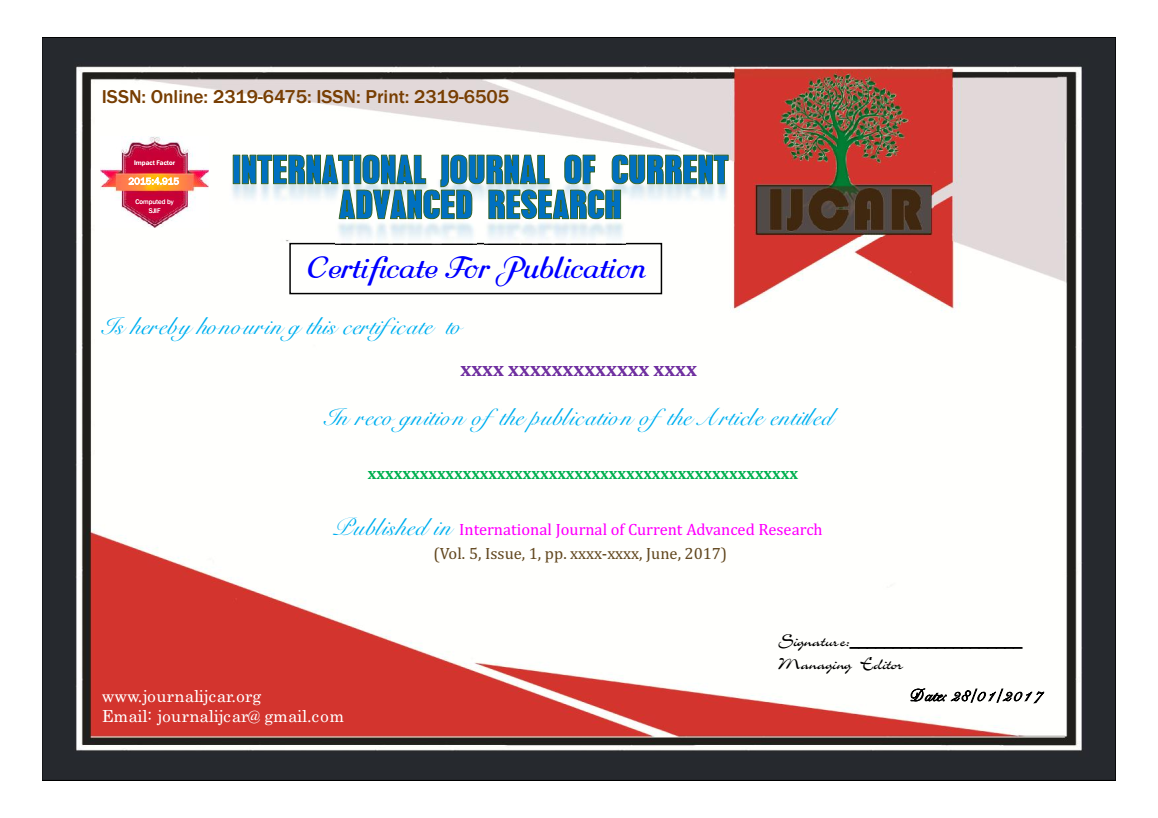 Indexed In | International Journal of Current Advanced Research